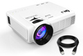 DR.J (Upgraded) 1800 Lumens Mini Projector