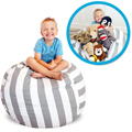 2 Feet Bean Bag Chair for Stuffed Toys by Soothing Company