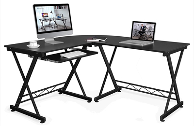 SONGMICS Corner Desk L-Shaped Computer Desk for Gaming