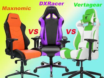 Maxnomic vs DXRacer vs Vertagear