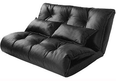 Merax Pu Leather Love Seat Sofa Bed