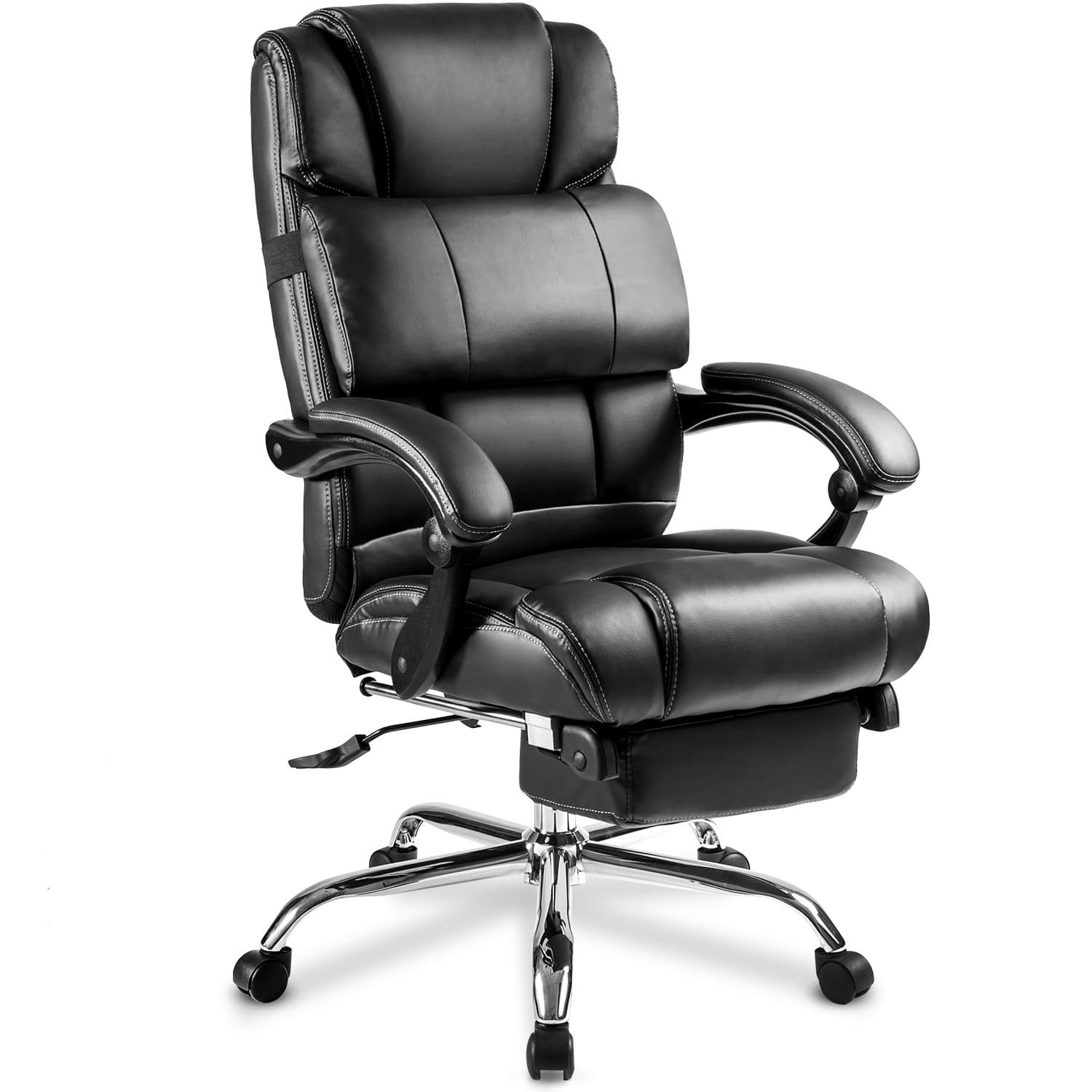 Ergonomic Office Reclining Chair Computer Gamers PC Racer Merax Racing Gaming Chair with Footrest High Back Large Home Desk Chairs Executive Adjustable Armrests and Comfortable Seat Blue